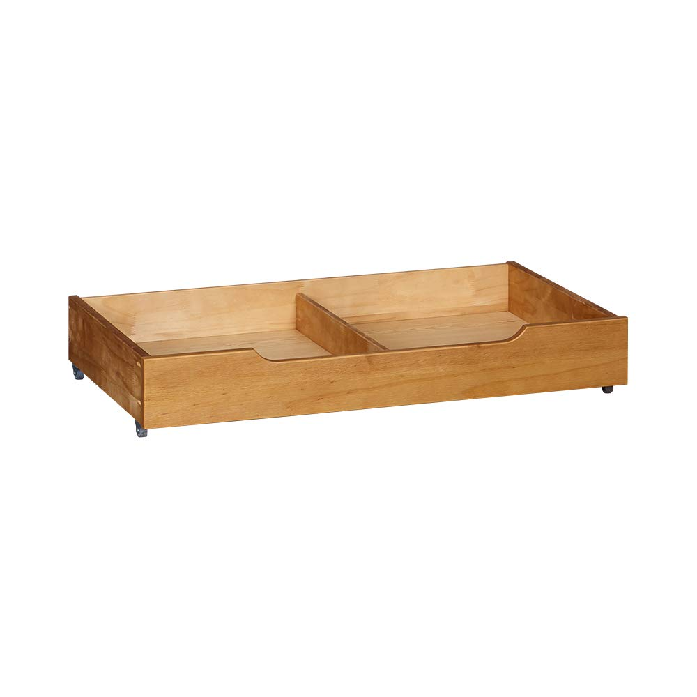 Amazon Com Musehomeinc Solid Wood Under Bed Storage Drawer With 4 Wheels For Bedroom Wooden Underbed Storage Organizer Suggested For Queen And King Size Platform Bed Home Improvement
