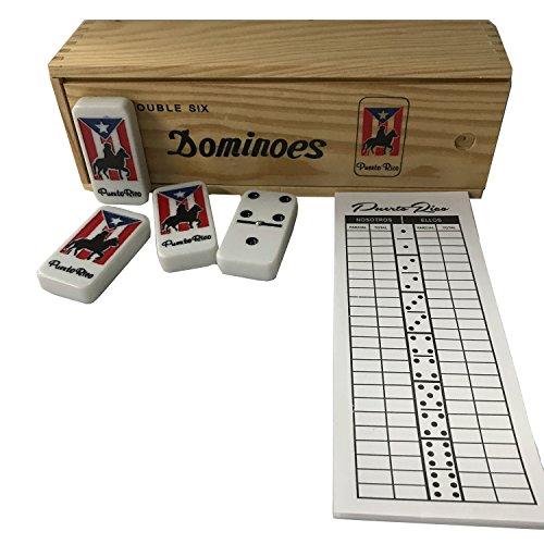 Puerto Rico Domino Set Jumbo Size Horse Includes Score pad