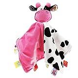 Generic Baby Comfort Blanket Tags Security Comforter Boys Girls Newborn - Cow