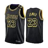 Camiseta de Baloncesto para Hombre, NBA, Los Angeles Lakers #32 Magic Johnson, Transpirable y Resistente al Desgaste Camiseta para Fan (Black Mamba 23, S)