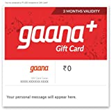 With this Gift Card, customers will get 3 months of Gaana subscription. The subscription can be used by new or existing Gaana users. Those not registered on the service will need to register themselves. The Gift Card can be used only once by a user a...