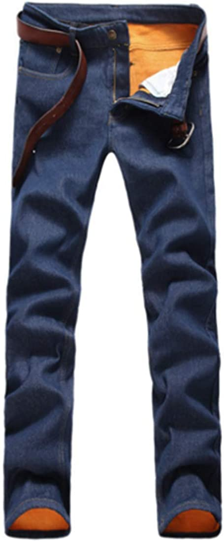 U D Mens Warm Denim Pants Trousers Linened C Winter Thick Max 89% OFF Fleece Challenge the lowest price of Japan