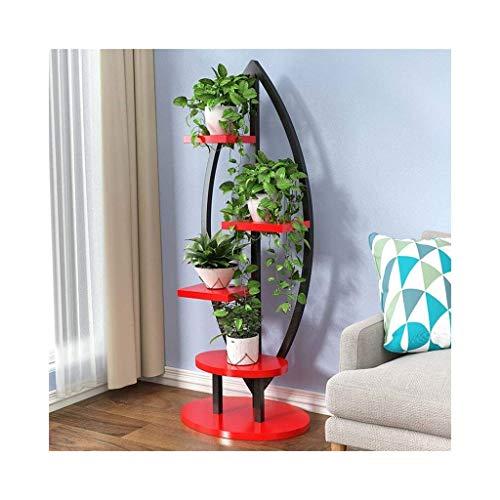 AMYZ Estante de Flores de 4 Niveles Soportes para Plantas Estante de exhibición Estante de Almacenamiento Multifuncional para Interiores y Exteriores (Color:H