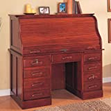Roll Top Home Office Computer Desk in Cherry Finish by Coaster Furniture