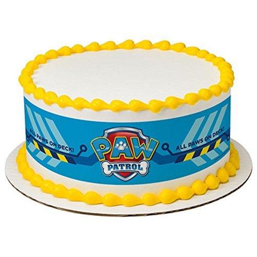 Licensed Paw Patrol Birthday - Designer Strips - Edible Cake Side Toppers - D7442