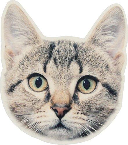 コースター アニマルマスク アメリカンショートヘア 猫 11×10×0.3cm 1879