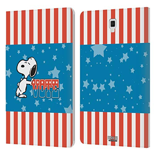 Official Peanuts Snoopy Flag Colour Your Vote Is Your Voice Leather Book Wallet Case Cover Compatible For Galaxy Tab S4 10.5 (2018)