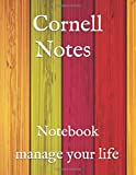 Cornell Notes Notebook manage your life: Cute Cornell Note Paper Notebook. Nifty Large College Ruled Medium Lined Journal Note Taking System for School and University , 8.5x11 in