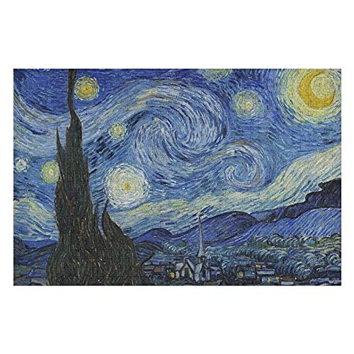 Houten puzzel 1000 PCS voor volwassenen en kinderen, de sterrennacht poster moeilijke uitdaging intellectuele educatieve…