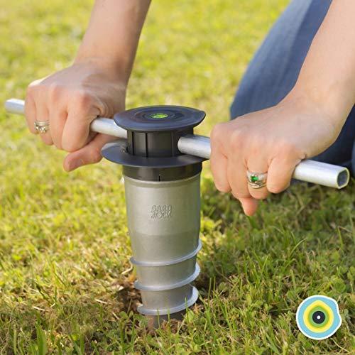 GARD & ROCK - ANKERFUSS aus Aluminium, steht nicht über - zum Verschrauben oder Einbetonieren in jedem Untergrund - Quick Fixation System - IM HANDUMDREHEN AUFGEBAUT