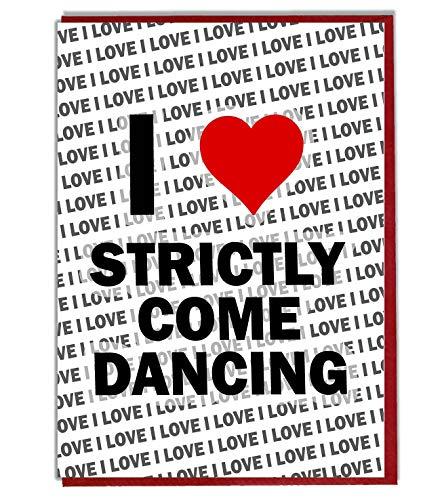 Ik hou strikt komen dansen wenskaart - Verjaardagskaart - Dames - Heren - Dochter - Zoon - Vriend - Man - Vrouw - Broer - Zuster