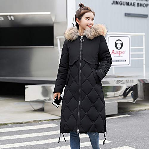 Xiaojie Damesmantel katoen winterjas dames met kleurrijke hooded Womens Jackets Winter Long Female Coat Slim