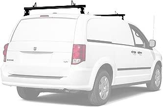 AA-Racks Model ADX32 Minivan Aluminum 2 Bar (50'') Universal Drilling Van Roof Rack with Ladder Stopper Sandy Black