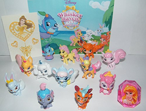 Disney Whisker Haven Tales with the Palace Pets Deluxe Party Favors Goody Bag Fillers Set of 14 with Figures, Tattoo Sheet and ToyRing Featuring Petite, Dreamy, Treasure and More!