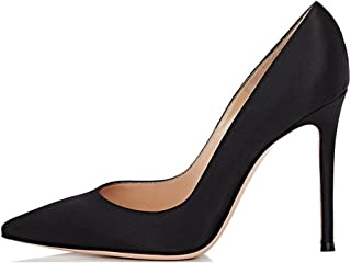 EDEFS - Scarpe con Tacco Donna - High Heels - Tacco a Spillo - Satin Scarpe Donna