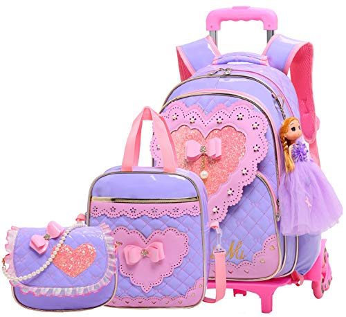 Meetbelify Gilrs Rolling Backpack Backpacks with Wheels for Girls for School Girls Roller Backpack on Wheels ?