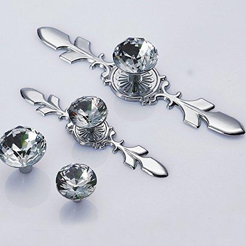 Angela-homestyle™ Poignée de meuble en cristal diamant (120 mm)