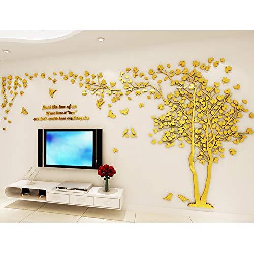 Branche gauche 3D Stickers Muraux Cristal en Acrylique Arbre avec des Branches Incurv/ées et des Cadres de Photo pour D/écoration de la Maison Stickers Arbre Mural