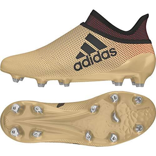 Adidas X 17+ FG J, Botas de fútbol Unisex niño, Amarillo (Ormetr/Negbas/Rojsol 000), 36 2/3 EU