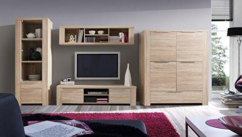Furniture24 Wohnwand CALPE Kommode Lowboard Bücherregal Wandregal