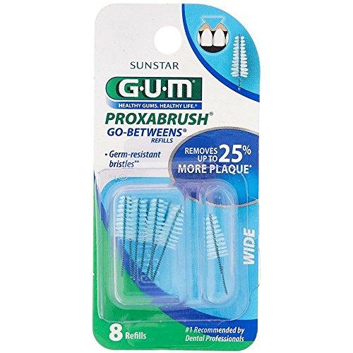 GUM Go-Betweens Proxabrush Refills Wide [614] 8...