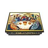 Dell'Arte - Artículos Religiosos - Caja de papel maché lacada de 9 x 6 cm - Última Cena Cenacolo
