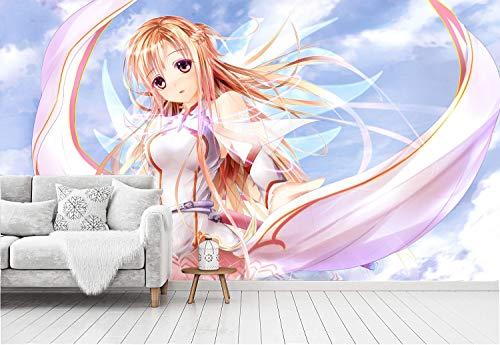 Sword Art Online Fototapeten 3D Anime Vlies Wand Tapete Wohnzimmer Schlafzimmer Büro Flur Dekoration Wandbilder Moderne Wanddeko Wallpaper 200x140cm