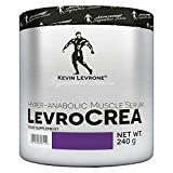 KEVIN LEVRONE LEVROCREA 240g - Creatine Stack Powder - Anabolic Muscle Mass Growth Gain - Pre Workout Food Supplement