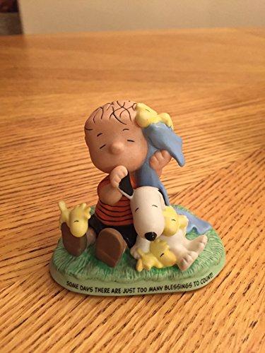 Hallmark Peanuts Gallery Special Blessings Figurine - Linus & Blanket  Snoopy & Woodstock - Numbered Edition