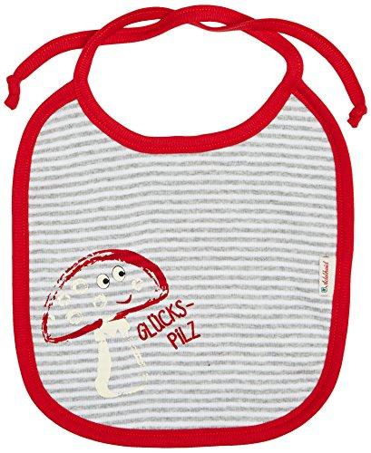 Adelheid Unisex Baby Glückspilz Halstuch, Mehrfarbig (ringel Mausgrau-weiss 992), One Size (Herstellergröße:OG)