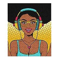 Young Sexy Girl African American 木製ジグソーパズル、大人のためのパズルティーンエイジャー子供ジグソーパズルゲームおもちゃ誕生日プレゼント200/75/120ピース