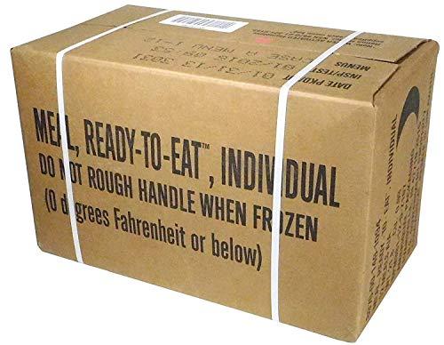MRE (Meals Ready-to-Eat Box A, Genuine U.S. Military Surplus, Menus 1-12 by Rothco