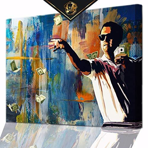 DotComCanvas® XXL Motivation-Wandbild für Erfolg   Leinwand direkt Aufhangbereit Statement (80 X 60 cm)