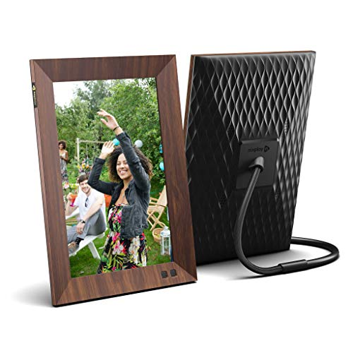 Nixplay Smart Digital Picture Frame 10.1 Inch Wood-Effect - Share Moments Instantly via EMail or App