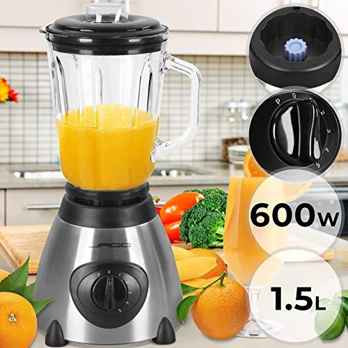 Licuadora Para Verduras y Frutas - con Potencia de 600 W, Capacidad de 1,5 L, y 5 Niveles de Velocidad - Batidora de Vaso, Batidora para Smoothie