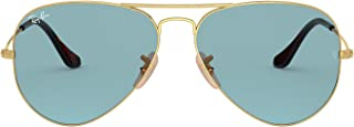 Ray-Ban 0RB3025 Classic Aviator Sunglasses, Color: California Gold, Size: 62 mm