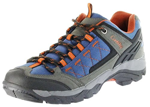 ConWay Sportschuhe blau Herren Damen Outdoor Trekking Schuhe Nauders blau orange, Farbe:blau, Größe:39 EU