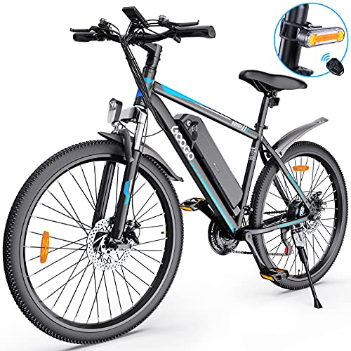 Electric Bike for Adults,Googo 26' Electric Mountain Bike with 350W Motor,Removable 36V Battery,Professional 21 Speed Gears,Middle 5 Speed LCD Display with USB,3 Working Modes,20MPH Electric Bicycle