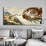 AMtxkj Frameless-50x100cm-Poster Canvas-Sixtinische Kapelle
