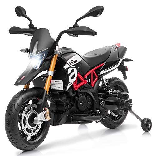 TITLE_Honey Joy Motorcycle Electric Scooter With Training Wheels