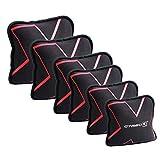 GYMBOX® Paquete/Set – Bolsa de Arena/Sand Pad/Saco de Peso/Fitness Bag/Power Bag | Entrenamiento Muscular/Funcional/de Pesas Libres | está llenado con Arena | Negro, 2/4/6/8 kg | llenado