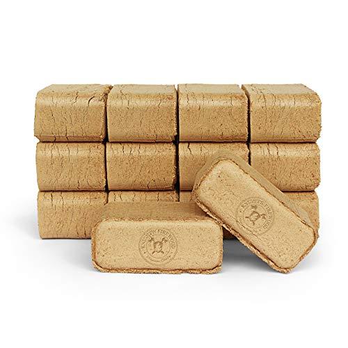 10kg Holzbriketts Brikett Eiche zum Heizen für Ofen und Kamin, Ofenbriketts