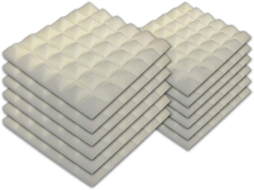 SK Free shipping anywhere in the nation Studio 12 PACK Acoustic Fireproof Deluxe Foam Pyramid Panels Soundpr