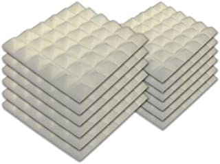 Sponsored Ad - SK Studio 12 PACK Acoustic Foam Panels Fireproof Pyramid Soundproof Studio Wall Tiles Sound Absorbing for H...