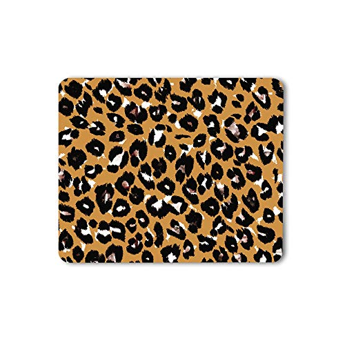 Moslion Leopard Pattern Mouse Pad Hand Drawn Abstract Animal Skin Fashion Fur Cheetah Gaming Mouse Mat Non-Slip Rubber Base Thick Mousepad for Laptop Computer PC 9.5x7.9 Inch