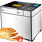 KBS Bread Machine, Automatic 2LB Bread Maker with Nuts Dispenser, LCD Display...