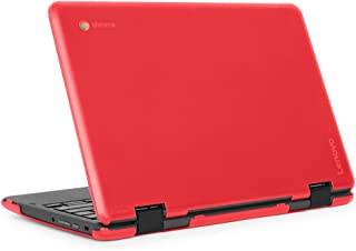 "mCover iPearl Hard Shell Case for 2018 11.6"" Lenovo 300E / Flex 11 Series 2-in-1 Chromebook Laptop (NOT Fitting Lenovo 300E Windows & N21 / N22 / N23 /100E / 500E Chromebook) (C300E RED)"