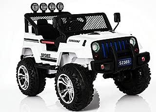 Bebouze Kids Jeep Style Ride On Car (White)