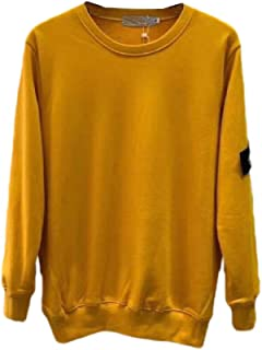 RkBaoye Men Basic Long Sleeve Solid-Colored Pullover Round Neck Tshirt