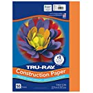 "Tru-Ray Heavyweight Construction Paper, Pumpkin, 9"" x 12"", 50 Sheets"